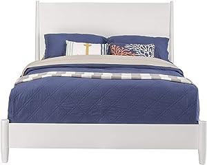 Alpine Furniture Flynn Mid Century Modern Twin Size Day Bed in White