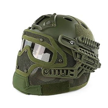 Goney Casco táctico, Casco de Seguridad al Aire Libre Equipo de protección Deportiva Luz para la Guerra Apoyos del Juego Personal de Seguridad DLD-013: ...