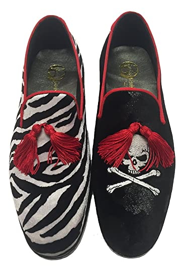 Garofalo Gianbattista - Mocasines de Terciopelo para Hombre Negro Bicolor: Amazon.es: Zapatos y complementos