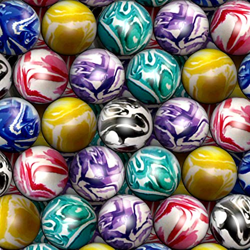 Hi Bouncing Balls 27 mm Mega Assorted Mixed Superball Balls in Bulk for Vending Machines Great for Kids Novelty Prizes Gifts in Bulk 250 pcs Rubber Large Bulk Bouncy Balls ()
