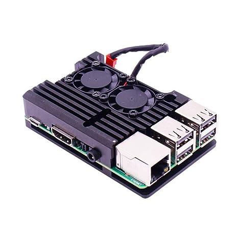 WorthGo Caja de Ventilador Doble Raspberry Pi de Tercera ...