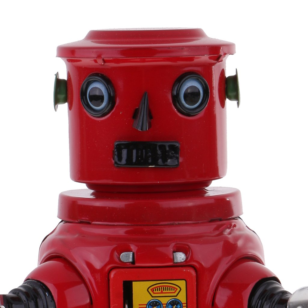 Jili Online New Mechanical Roby Robot Wind Up Clockwork Tin Toys Decoration Collectibles by Jili Online (Image #6)