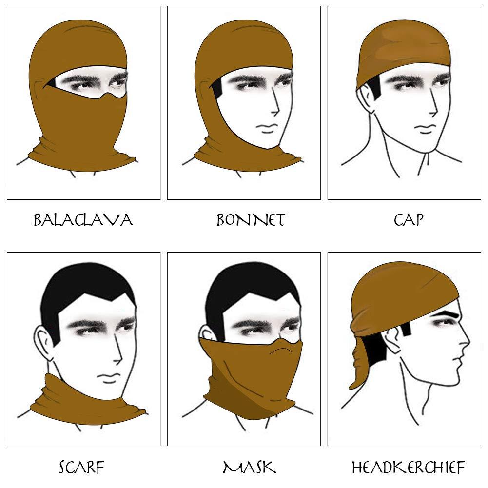 DIMJ Balaclava Ski Mask Black Windproof Cold Weather Face Mask Cycling Neck Warmer