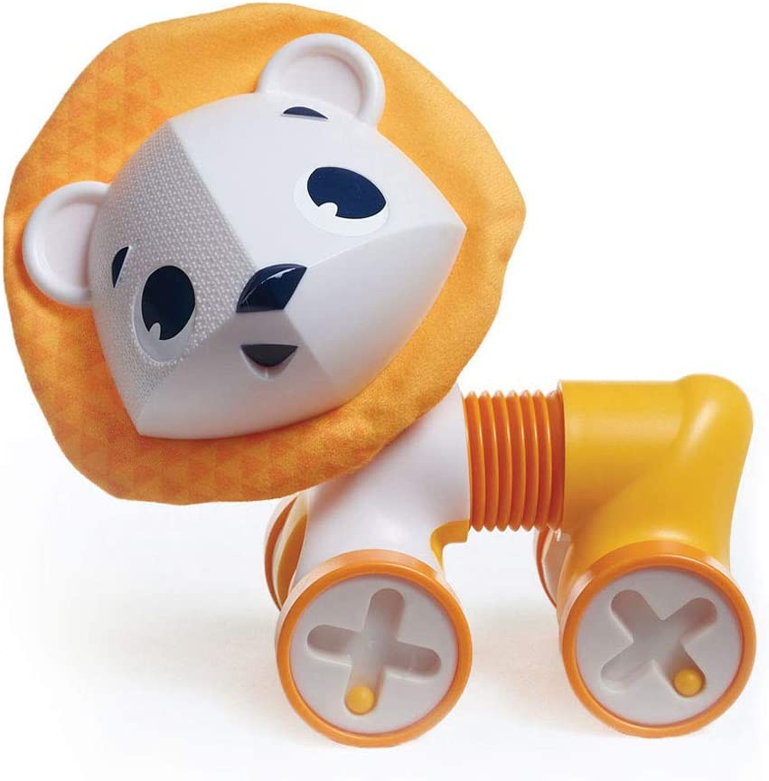 Tiny Love Leonardo el León Juego educativo 1 años, Juguetes para niños y niñas, con cuerpo flexible, color Amarillo