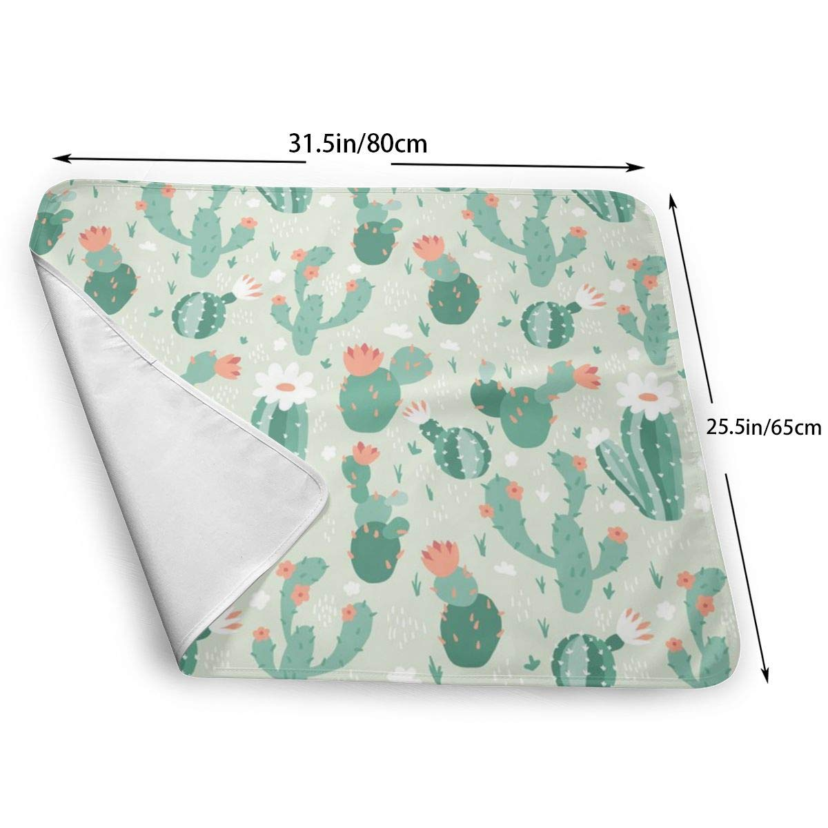 Biggest Changing Mat to Change Diaper Blooming Cacti/_4860 Changing Pad Portable 25.5x31.5