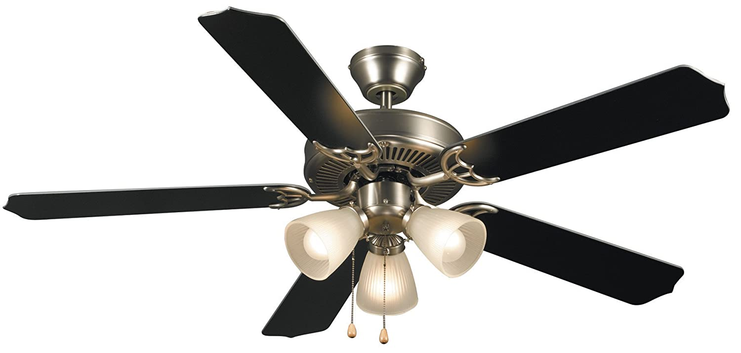 Hardware house 415935 paladuim flush mount 52 inch 5 blade ceiling hardware house 415935 paladuim flush mount 52 inch 5 blade ceiling fan with optional light fixture satin nickel amazon mozeypictures Image collections