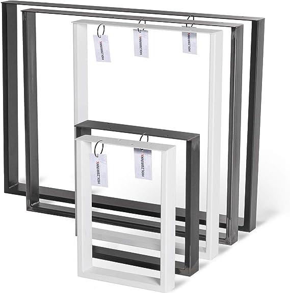 HOLZBRINK Patas de Mesa perfiles de acero 60x20 mm y barra plana 3 mm, forma de marco 100x72 cm, Negro Intenso, 1 Pieza, HLT-02-E-HH-9005: Amazon.es: Hogar