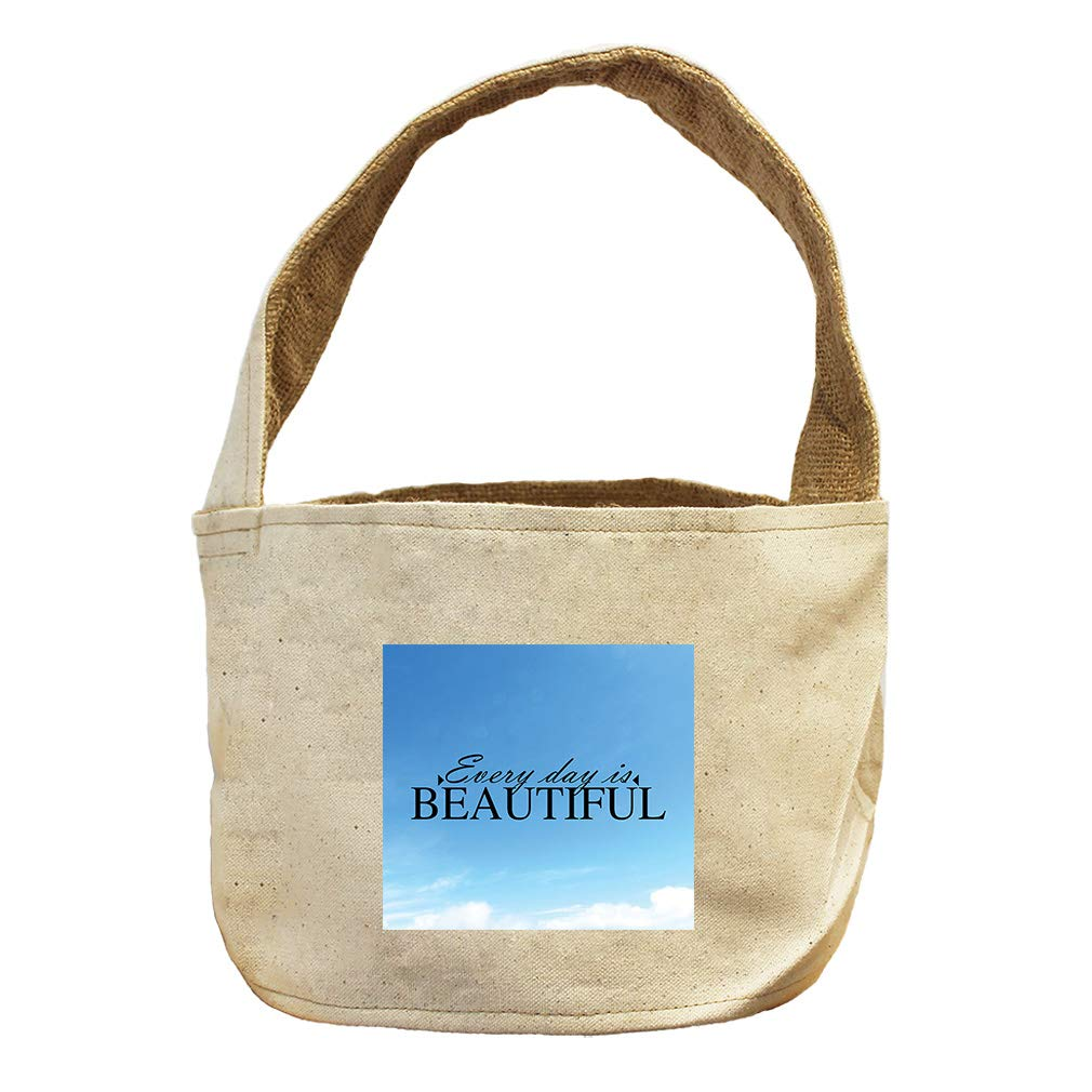 Style in Print Every Day is Beautiful Canvas and Burlap Storage Basket