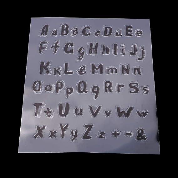 Lettere Fustelle Alfabeto Feltro Fai Da Te in Silicone Trasparente