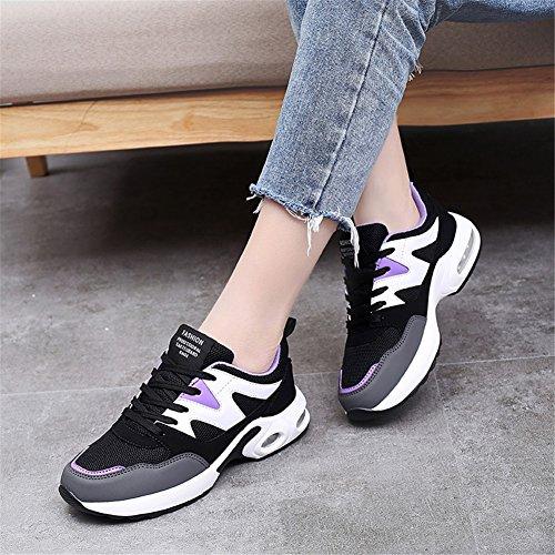 Sneakers Casual Primavera Donna Un Corsa Violet Per Sport Blue Comfort Traspirante D'aria Scarpe Tulle Black All'aperto Autunno Cuscino Rose Da Ix05qIFwP