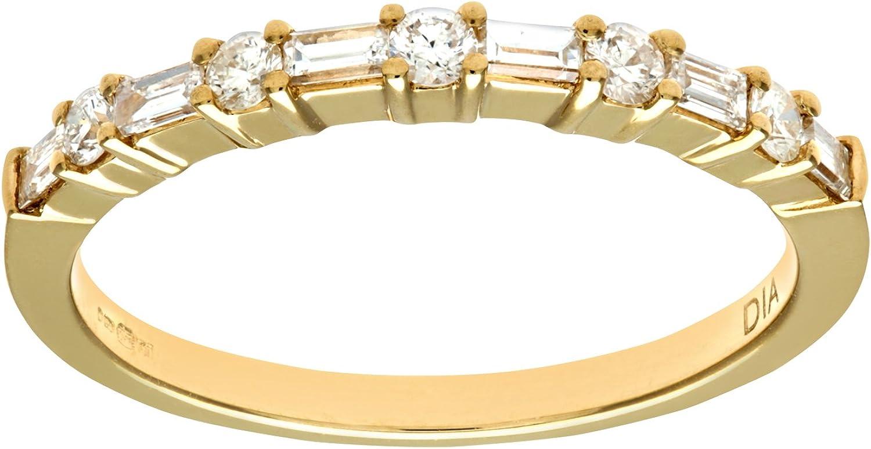 Naava - Anillo para Mujer de Oro 18K con Diamantes