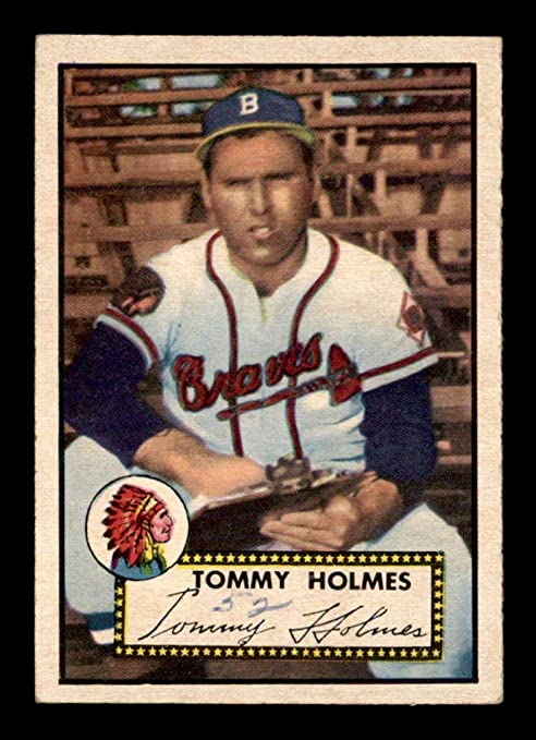 289 Tommy Holmes 1952 Topps Baseball Cards Graded Gvg Baseball