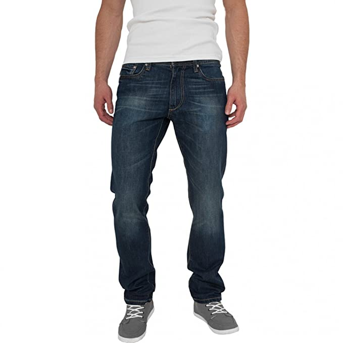 Urban Classics Straight Fit Jeans Blue Stone, Blue  Amazon.fr ... 663322e912b8