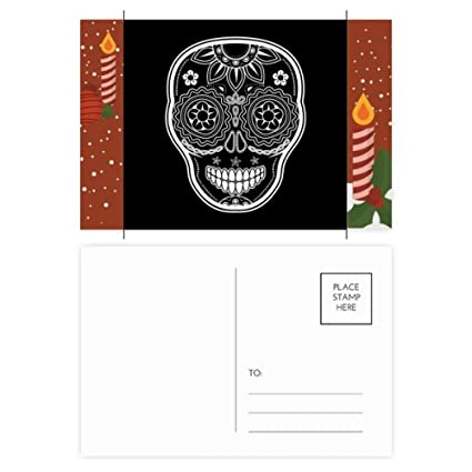 Amazon Com Black White Mexico Day Of Dead Christmas Candle
