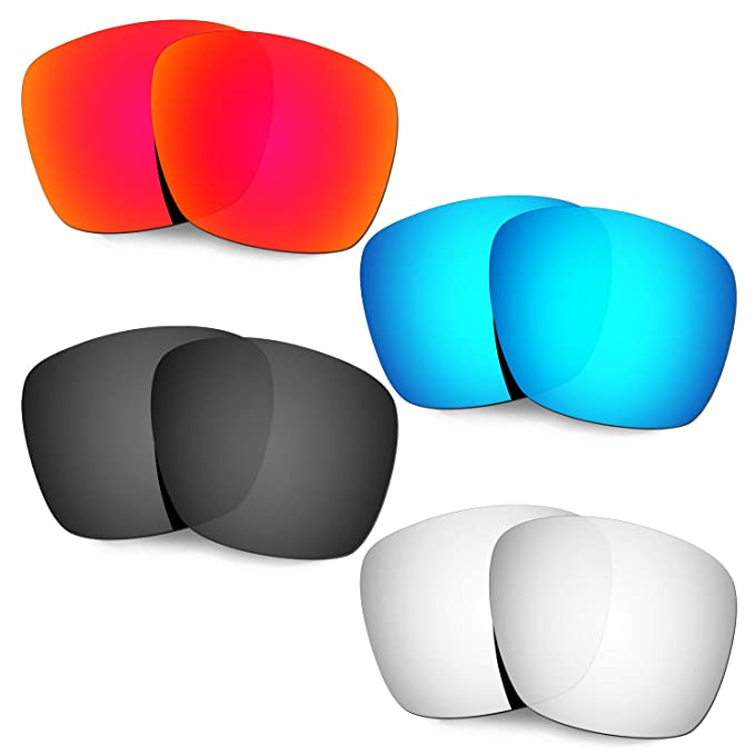 3663f2850e HKUCO Replacement Lenses For Oakley TwoFace XL OO9350  Red Blue Black Titanium Sunglasses