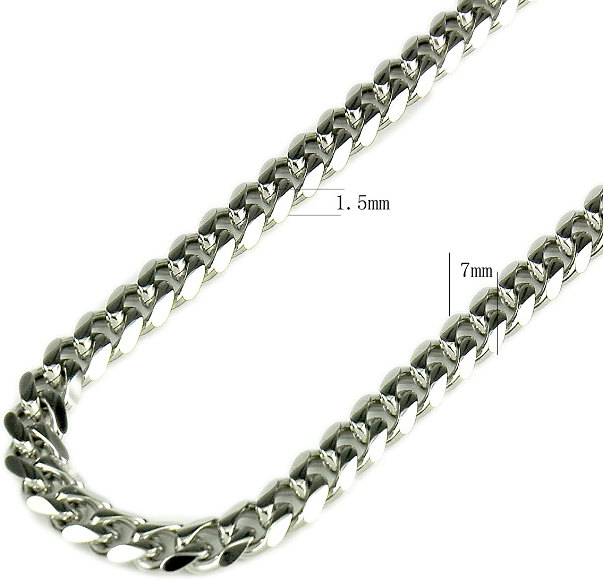 Flyingeagle Trade Inc 30 Men Stainless Steel Necklace Silver Tone Chain 24 1.5mm