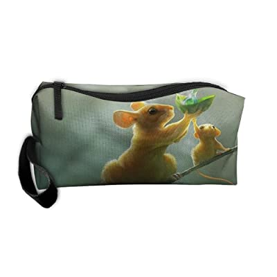 Unisex Handbags Literary Style Of The Mouse Hold Dew Storae Bags Pencil Cases