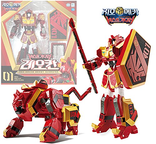 Geo Mecha Beast Guardian Leo Khan Transformer Robot Toy Action Figure