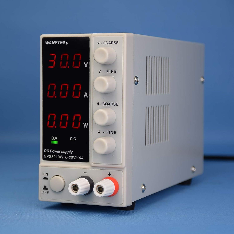 30V 10A WANPTEK NPS3010W 220V Gleichstromversorgung f/ür Labor