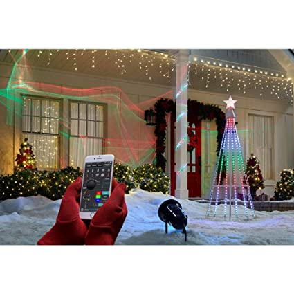 Amazon Com Showhome App Laser Rgb 3d Wireless Projector Christmas