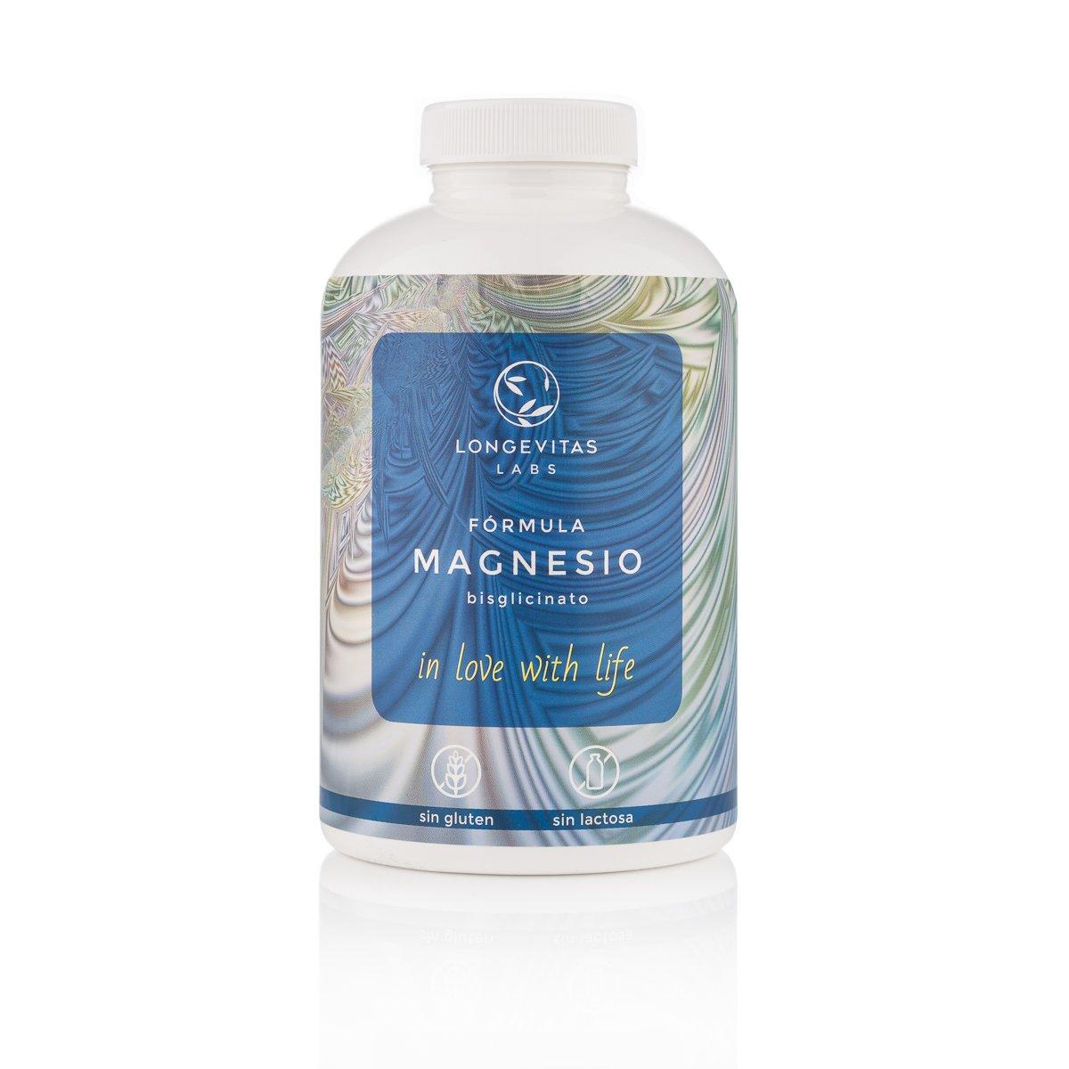 Fórmula Magnesio es el complemento nutricional de Longevitas Labs a base de bisglicinato de magnesio, L-Glicina y vitamina B6. Apto para veganos y personas ...