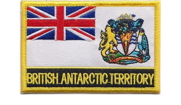 FLAG PATCH antartica antartic IRON ON GLUE NEW EMBROIDERED backpack