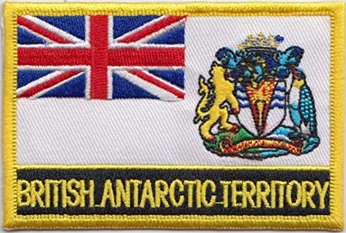 British Antarctic Territory Country Flag Embroidered Blazer Badge Patch