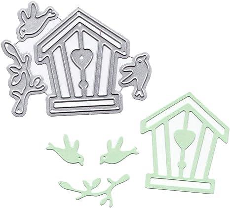 Bird House Metal Cutting Die Stencil Set of 2 Dies Cards Crafts Scrapbooking