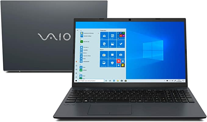 "Notebook Vaio FE15, Intel Core i7, 8GB RAM, HD 1TB, Tela LCD 15.6"" HD, Windows 10 - Chumbo Escuro"