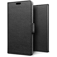 SLEO Case for Huawei NOVA 2, Luxury Wallet Flip PU Leather Protective Case Cover with Card Slot and Stand Feature for Huawei NOVA 2 - Black