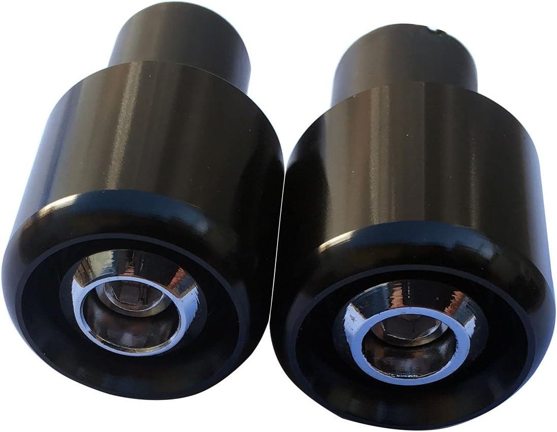 Black 7//8 22mm Handle Bar End Weights Plugs Grips Cap Sliders for 2012 Suzuki Vstrom 1000