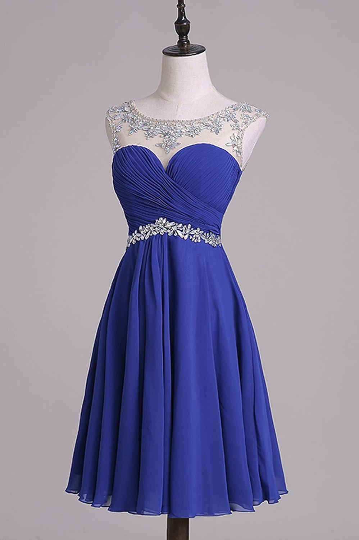 BRLMALL Women\'s Short Prom Dresses Beaded Homecoming Dress for ...