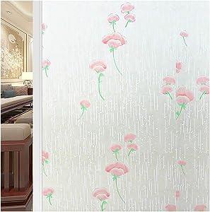 TTQXG Anti-peep Privacy Window Film, Heat Control Uv Protection Window Film Decorative Bathroom Opaque Window Stickers Office Meeting Room-l 40x200cm(16x79inch)