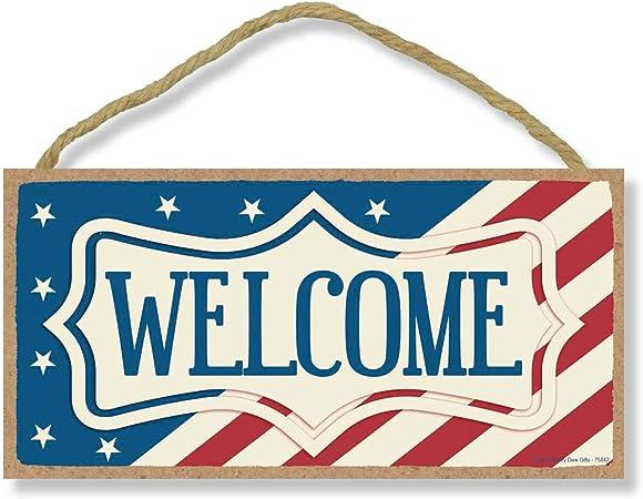 ENTER PATRIOTIC HOME MADE IN USA METAL SIGN 8X12 MAN CAVE BAR NATIONAL ANTHEM