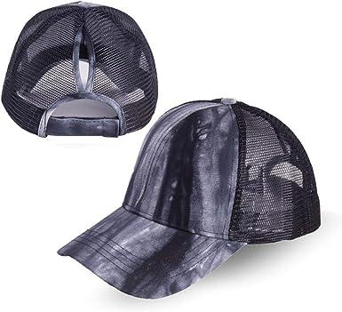Fashion Unisex Ponytail Messy Buns Trucker Plain Baseball Visor Cap Dad Hat