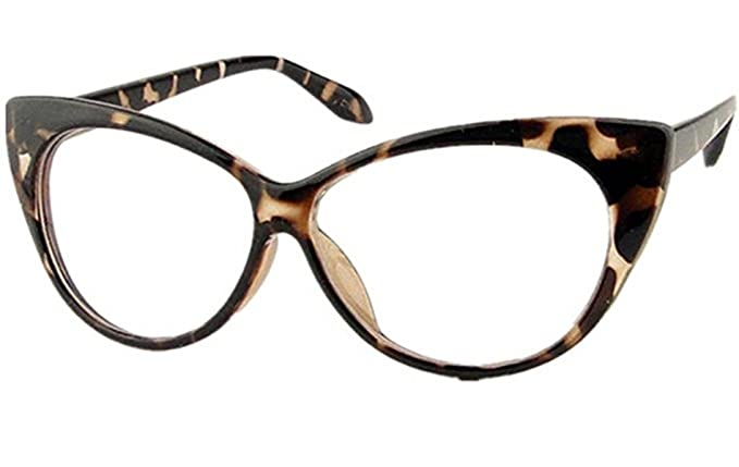 b4f4cc1d8f Mogor Women s Fashion Cat Eye Eyeglasses Frame Retro Style Leopard Print