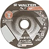 Walter HP Grinding Wheel, Type 27, Round Hole, Aluminum Oxide, 5'' Diameter, 1/4'' Thick, 7/8'' Arbor, Grit A-24-HPS (Pack of 25)