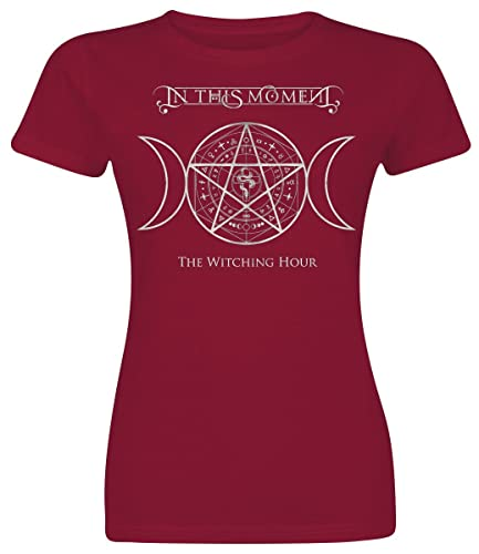In This Moment Goddess Moon Camiseta Mujer Rojo