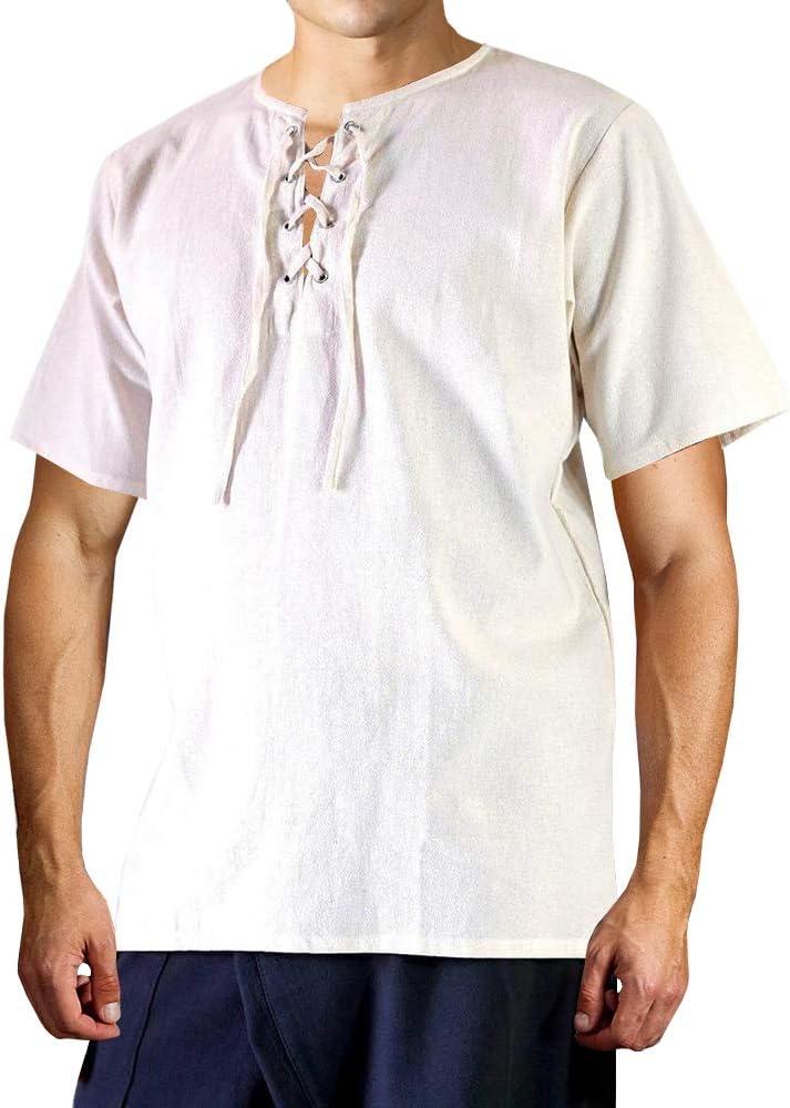 Appler Camisa para Hombre, diseño de renacentista, Color Verde - - Medium: Amazon.es: Ropa y accesorios