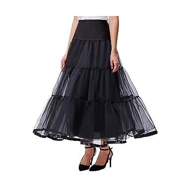 Splento Tallas Grandes más largas Faldas de tutú para Mujer Tulle ...