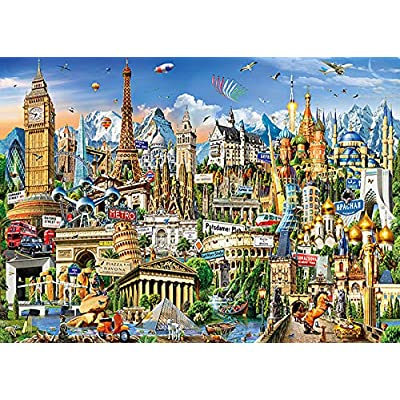 Puzzles for Adults 1000 Piece,Funny Landscape Jigsaw Puzzles Educational Toys Family Puzzle Game,Handmade Puzzles (Castle): Toys & Games