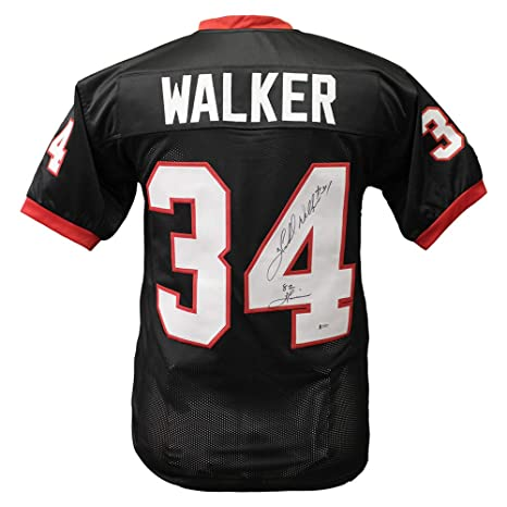 0516a1e077a Herschel Walker Georgia Bulldogs Autographed Signed Custom Black Jersey  with 82 Heisman Inscription - Beckett Certification