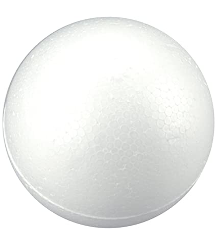 10 inch (25 cm) Smooth Foam Ball for Crafts, School and Modeling Projects