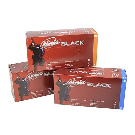 De colour negro Ninja, una vez que el de guantes de látex ...