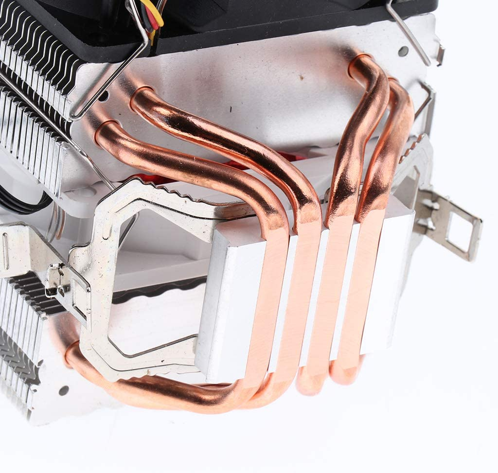 Aluminum CPU Cooler Heatpipe 9cm Fan for Intel 775//1366//1150//1151//1155//1156