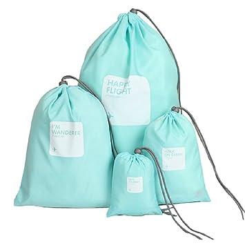 Set of 4pcs Drawstring Bags, WITERY Set of 4pcs Waterproof ...