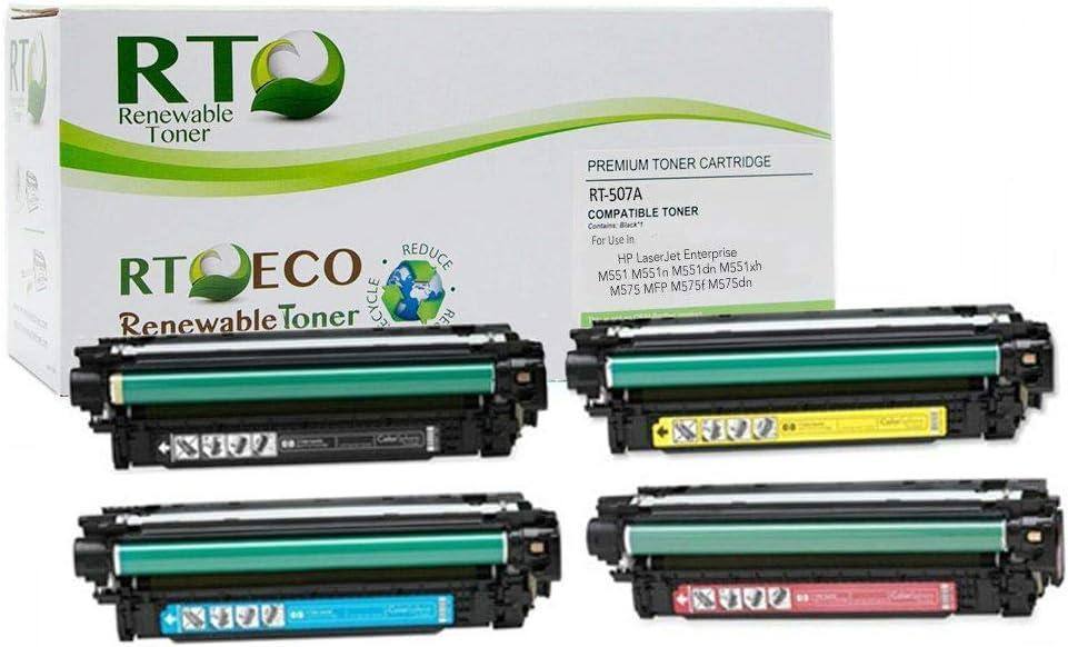 For HP CE400A 3A 507A LaserJet 500 color M551 MFP M570 M575 Toner Cartridge Set