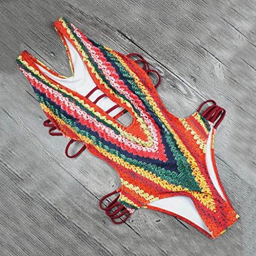Costume reggiseno bagno Set Stampa Bandage stampato up bagno imbottito sexy Imbottito da Swimwear Donna SamMoSon Bikini Beach Bikini mutande push Un Bra Monokini costumi pezzo da qx7qEpw