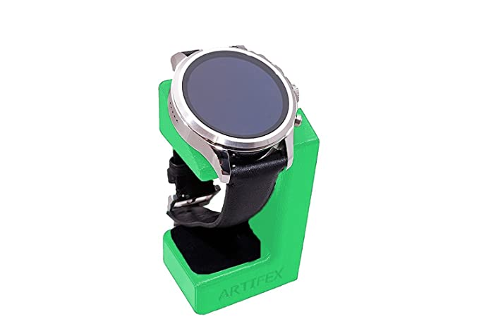 Artifex Design Stand Configured for Emporio Armani Connected Smartwatch Charging Stand, Artifex Charging Dock Stand (Green)