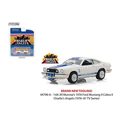 New 1:64 Greenlight Hollywood Series 19 Collection - Jill Munroe's Ford Mustang II Cobra II White Charlie's Angels (1976-1981 TV Series) Diecast Model Car By Greenlight: Toys & Games